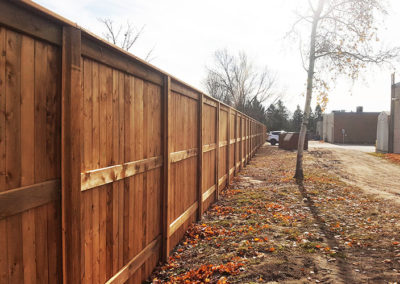 Wooden commercial fences