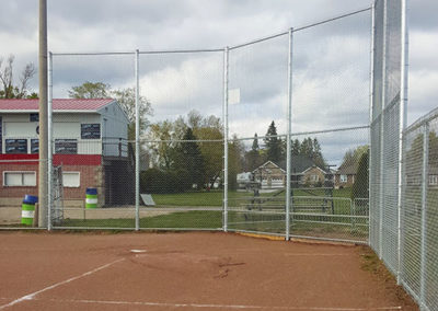 Baseball diamond backstop