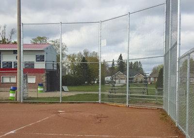 Baseball diamond backstop
