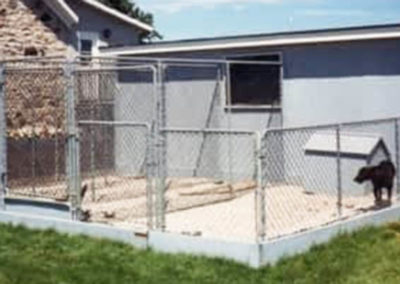 Chainlink fence for dog run